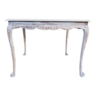 French Style Painted Square Dining Table