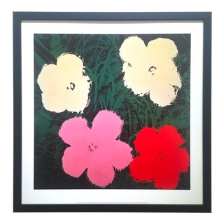 "Andy Warhol Foundation Vintage Lithograph Print Framed Pop Art Poster "" Flowers III "" 1964 For Sale"