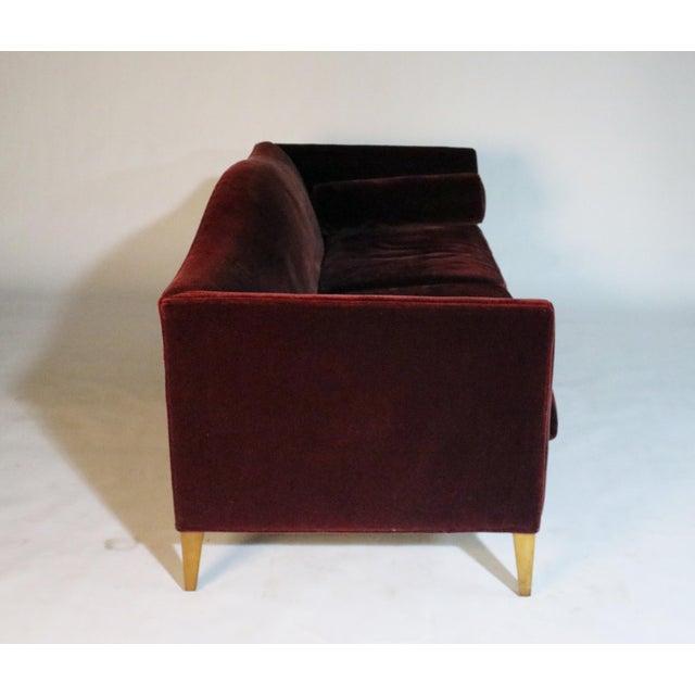 Maple Baker Archetype Model #2386-80 Red Merlot Mohair Sofa For Sale - Image 7 of 11