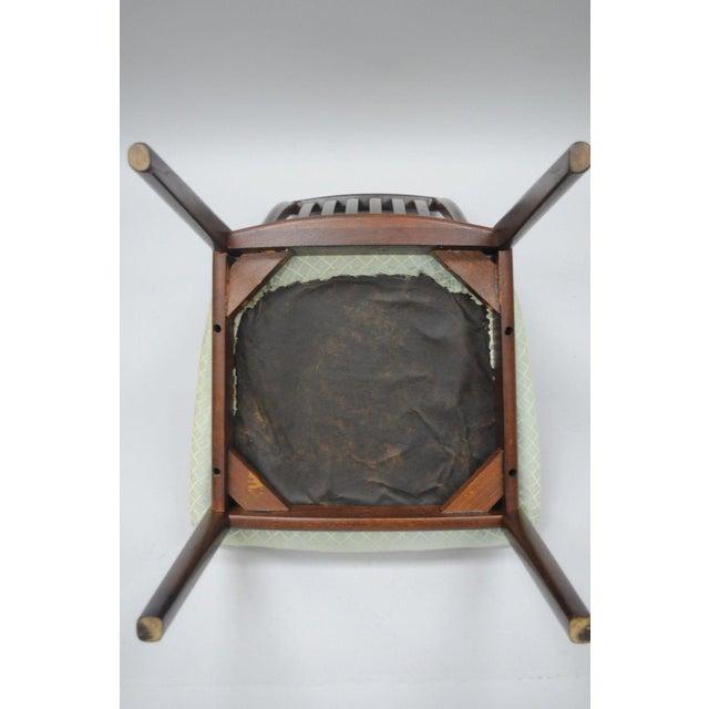 Vintage Dyrlund Mid Century Danish Modern Teak Dark Wood Dining Side Chair For Sale - Image 9 of 11