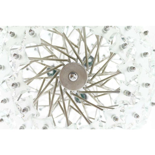 """Italian Glass and Metal """"Snowball"""" Chandelier, Italy, 1960s For Sale - Image 3 of 8"""