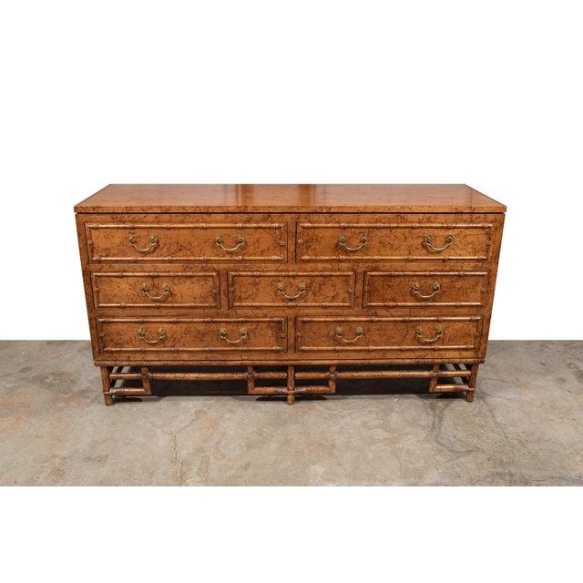 1960's Vintage Ficks Reed Faux Bamboo 7 Drawer Dresser For Sale - Image 13 of 13