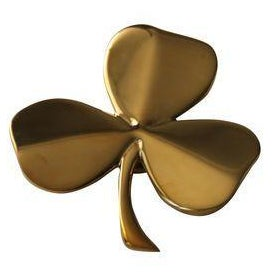 Solid Brass Shamrock Door Knocker For Sale