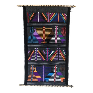 Indian Tribal Motif Bird Woven Wall Hanging For Sale