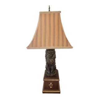 1980s Lion Table Lamp For Sale