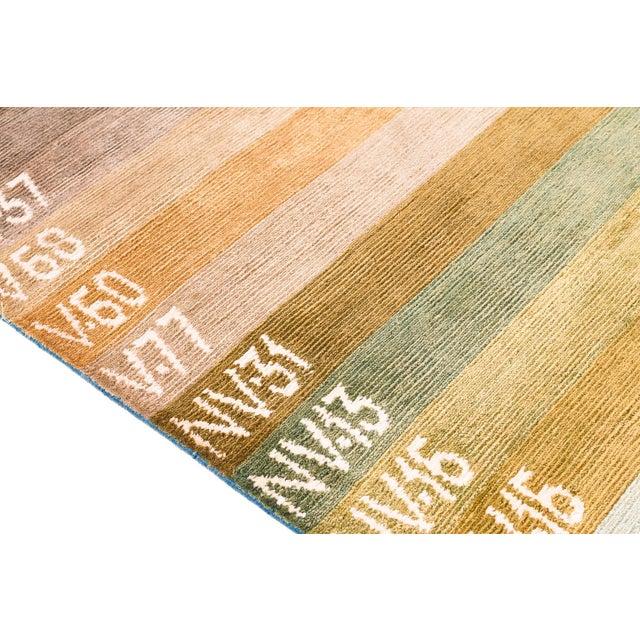 Contemporary Silk Multi Colored Area Rug, 9'x12' For Sale - Image 9 of 10