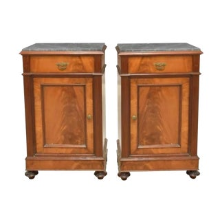 19th Century Country French Louis Philippe Nightstands - a Pair For Sale