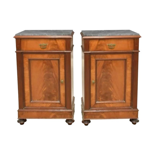 19th Century French Crotch & Burl Mahogany Confiture Cabin For Sale