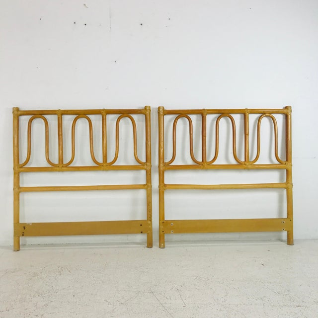 Mid-Century Modern McGuire Twin Headboards Pair For Sale - Image 3 of 8