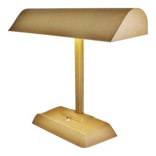 Mid Century Modern Metal Bankers Desk Lamp For Sale