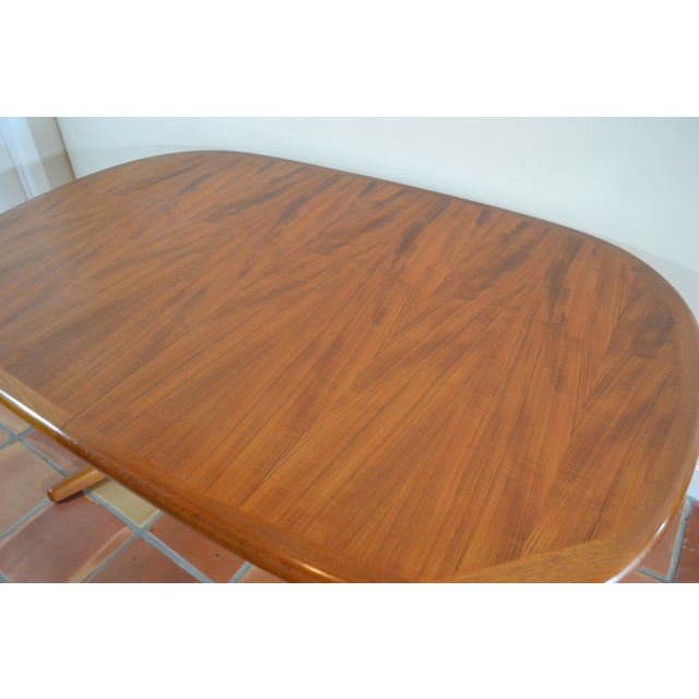 E. Valentinsen Danish Teak Expandable Dining Table For Sale In Miami - Image 6 of 10