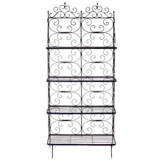 Hand Wrought Iron Bakers Rack For Sale