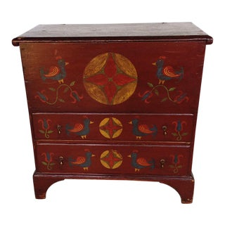 Hand Painted Pennsylvania Dutch Mule Top Chest For Sale