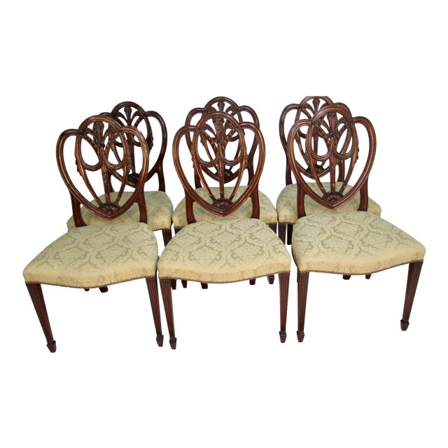 1940s Vintage Custom Made Mahogany Chairs- Set of 6 For Sale