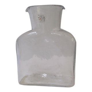 Blenko Glass Water Pitcher Vase
