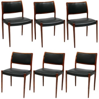 Set Of 6 Rosewood Niels Moller Dining Chairs For Sale