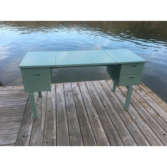 20th Century Industrial Aluminum Military Campaign Tanker Desk For Sale - Image 12 of 12
