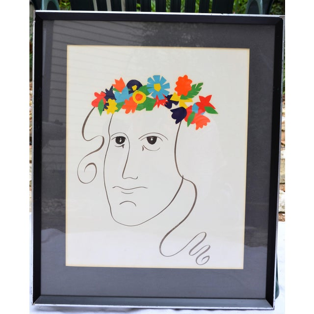 Bohemian Abstract Face Illustration For Sale - Image 5 of 7