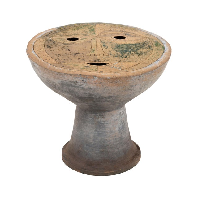 Clyde Burt Figural Ceramic Stool For Sale In Chicago - Image 6 of 6