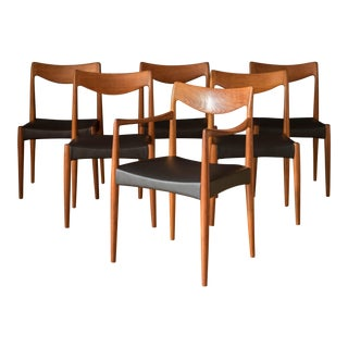 Vintage Teak Dining Chairs by Rastad & Relling for Gustav Bahus - Set of 6 For Sale