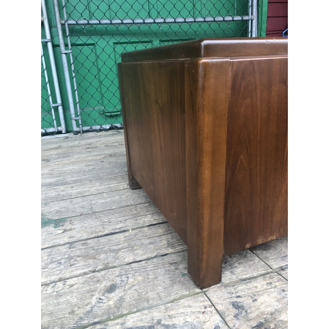 Brown 1970s Mid Century Modern Walnut Nightstand by Lane For Sale - Image 8 of 10