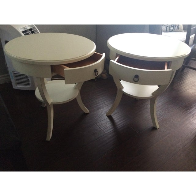 Pottery Barn White Nightstands - A Pair - Image 3 of 5