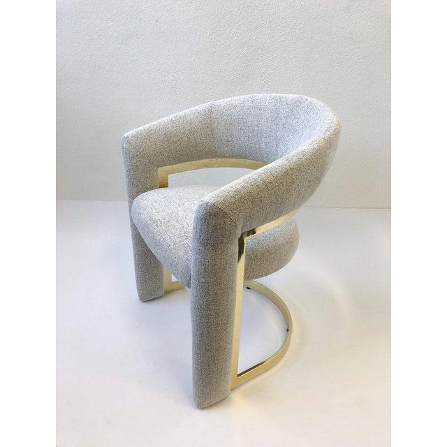 DIA - Design Institute America Design Institute of America Brass Dining Chairs - Set of 4 For Sale - Image 4 of 12