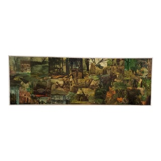 Vintage Large Scale Collage on Board by Peter Sword C.1970s For Sale