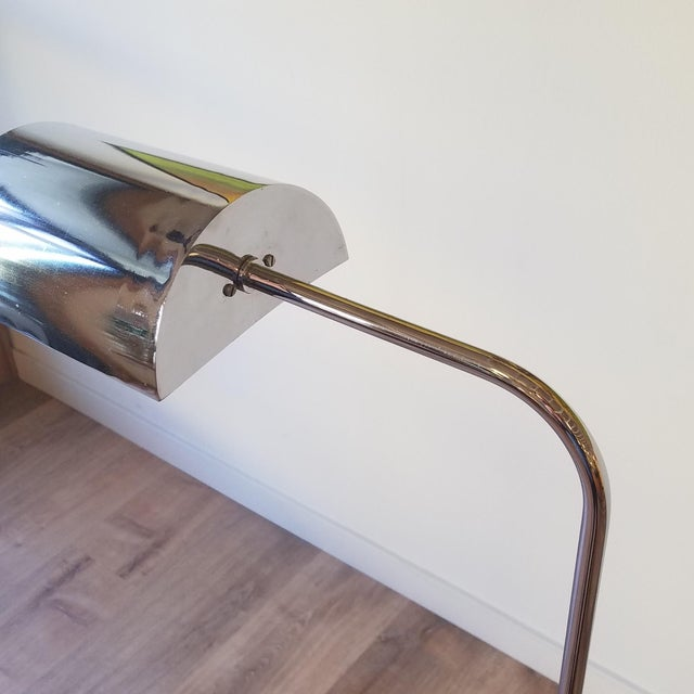 Metal 1970s Fratelli Mannelli Travertine and Chrome Floor Lamp for Raymor For Sale - Image 7 of 13