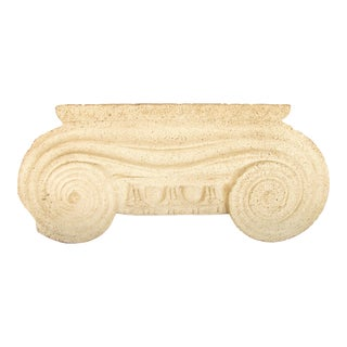 Neoclassical Ionic Capital Architectural Element For Sale