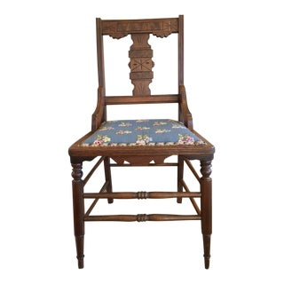 Late 19th Century Antique Eastlake Victorian Cottage Chair For Sale