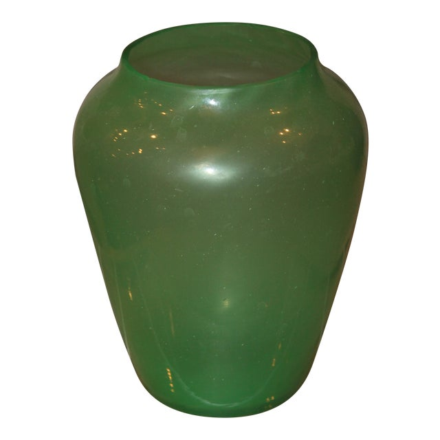 1930s Art Deco Jade Vase For Sale