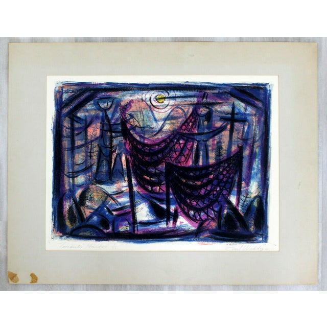 """""""Tenants Harbor"""" by Emil Weddige Unframed Lithograph For Sale In Detroit - Image 6 of 6"""