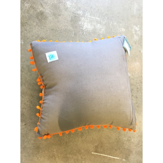 Karma Living Fox With Glasses Pillow For Sale - Image 4 of 4