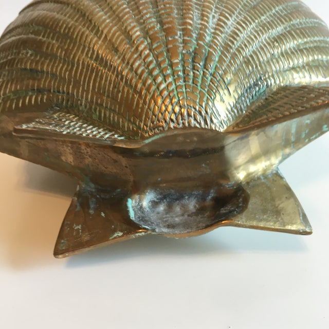 Vintage Brass Shell Vase - Image 7 of 7