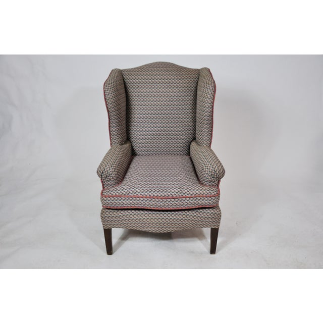 Vintage French Kids Wing Chair Newly Upholstered For Sale - Image 13 of 13