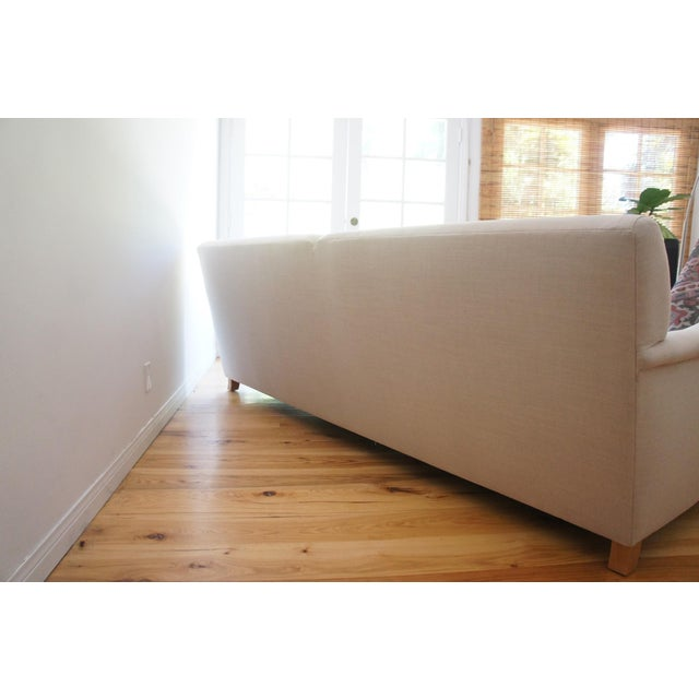 Custom Roll Arm Sofa With Modern Lines - Image 5 of 11