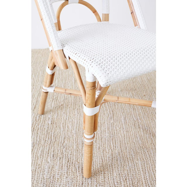 Serena and Lily Bamboo Riviera Rattan French Bistro Chairs For Sale - Image 12 of 13