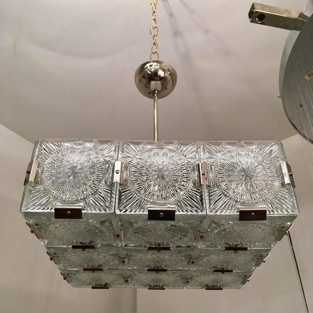 Kamenicky Senov Novy Bor 1960s Czech Bohemian Crystal Flush Pendant For Sale - Image 4 of 10