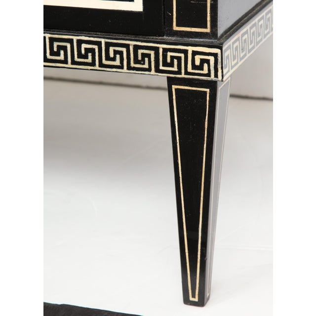 Pair of Custom Neoclassic Hand-Painted Commodes For Sale - Image 9 of 12