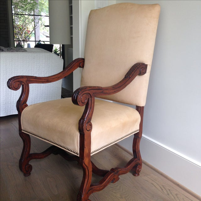 Fremarc Carved Provence Dining Chairs - Set of 6 For Sale - Image 4 of 9
