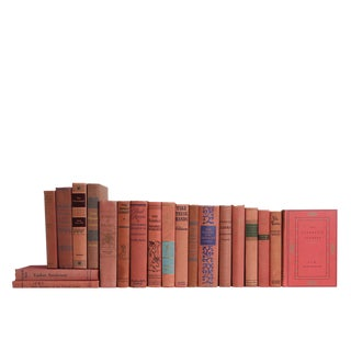 Vintage Dusted Rose : Set of Twenty Decorative Books For Sale