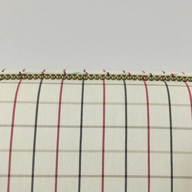 Plaid Nailhead Trim Queen Headboard - Image 3 of 8