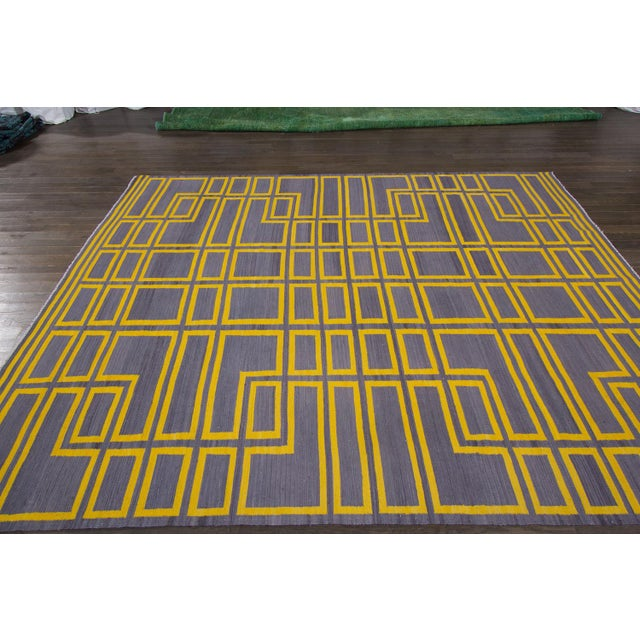 21st Century Modern Kilim Rug For Sale - Image 9 of 10