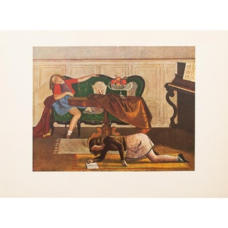 Rare 1947 Balthus, Le Salon Original Period Lithograph For Sale
