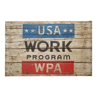 Original w.p.a Project Site Sign C.1930 For Sale