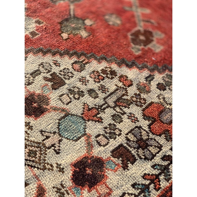 1960s Vintage Persian Hamadan Rug - 4′5″ × 6′6″ For Sale - Image 10 of 13