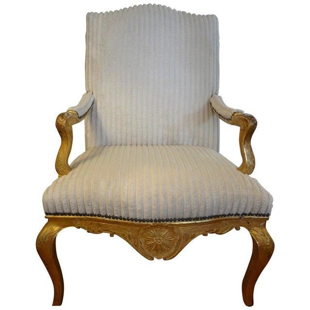 18th Century French Régence Giltwood Chair For Sale - Image 13 of 13