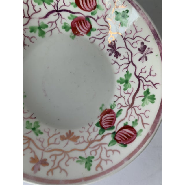 White Antique English Lustreware Berry Motif Trinket Dish For Sale - Image 8 of 10