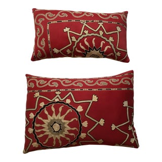 Antique Suzani Pillows - A Pair